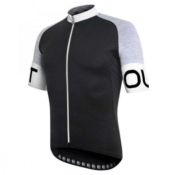 PURE maillot m/corta Negro-Gris-Blanco