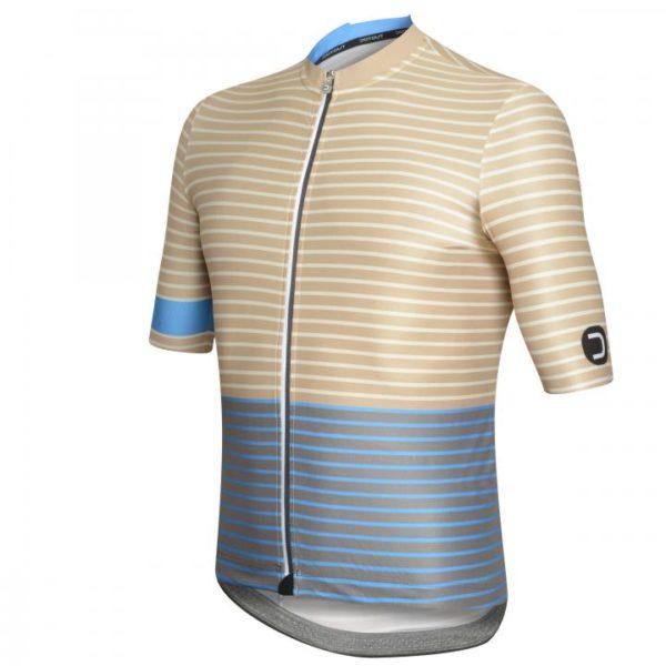 STRIPE maillot m/corta Marrón-Azul