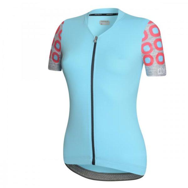 DOTS maillot m/corta Azul-Rosa