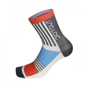 PREMIER calcetines medios Rojo-Azul-Gris